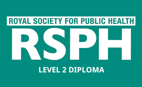 royal society for public health (RSPH) logo, independent, multi-disciplinary charity dedicated to the improvement of the public's health and wellbeing.