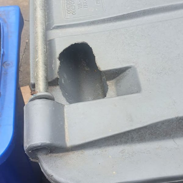 damage to bin caused by rodents
