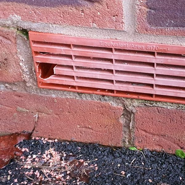 damage to air vent by pests